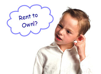 kid scratching head thought cloud read rent to own